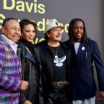 """Ralph Johnson (Earth Wind & Fire), Cindy Blackmon, Carlos Santana & Verdine White (Earth, Wind & Fire) on the Red Carpet for """"Clive Davis: The Soundtrack Of Our Lives"""" @ Pacific Design Center 9/26/17. Photo by Derrick K. Lee, Esq. (@Methodman13) for www.BlurredCulture.com."""