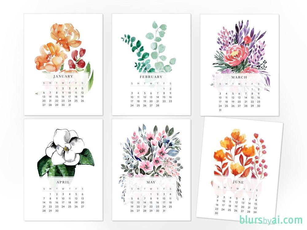 printable calendar by month