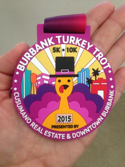 On Thanksgiving morning, I ran the Burbank Turkey Trot 10K.