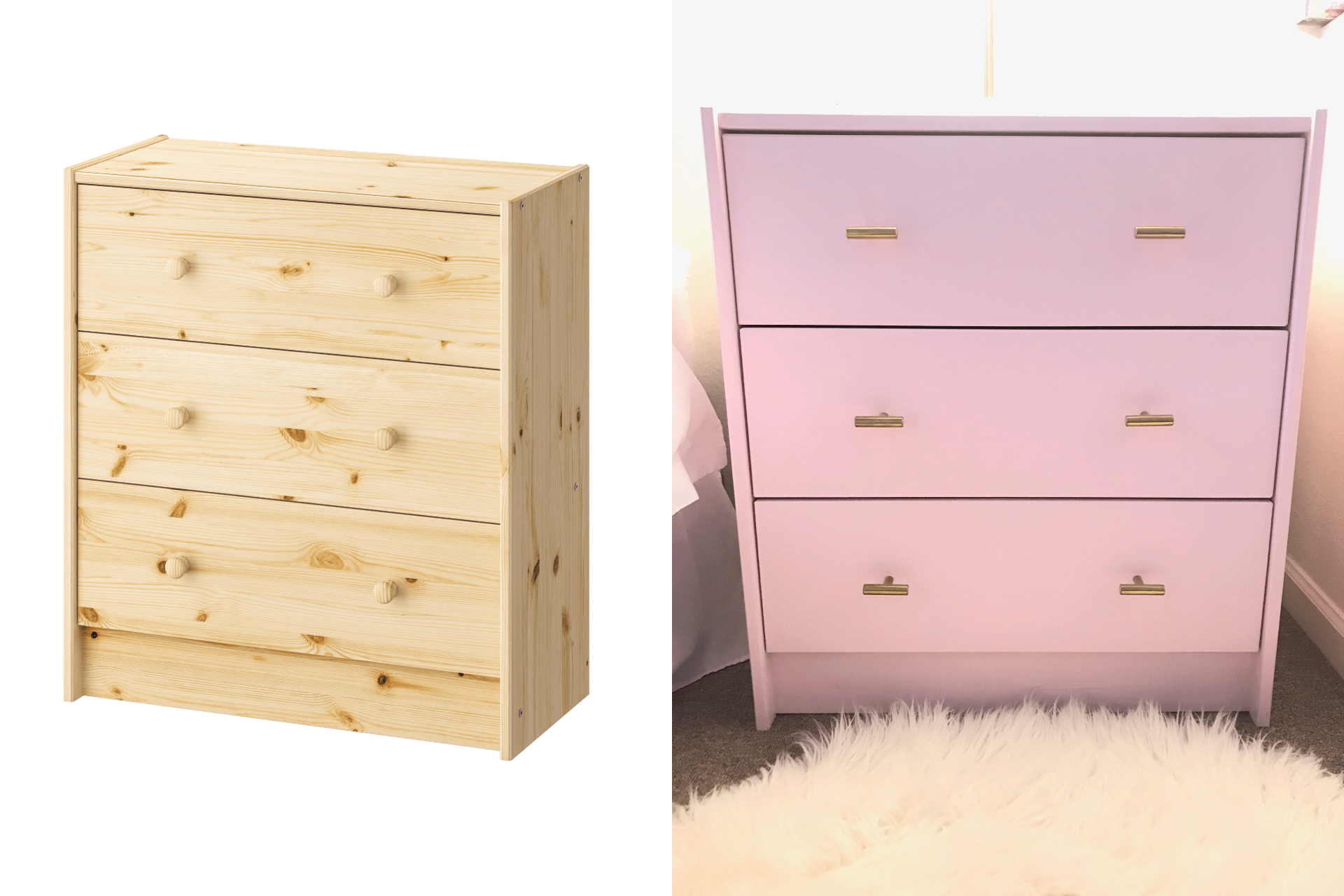 Ikea Rast Diy Ikea Rast Nightstand Blushing In Hollywood