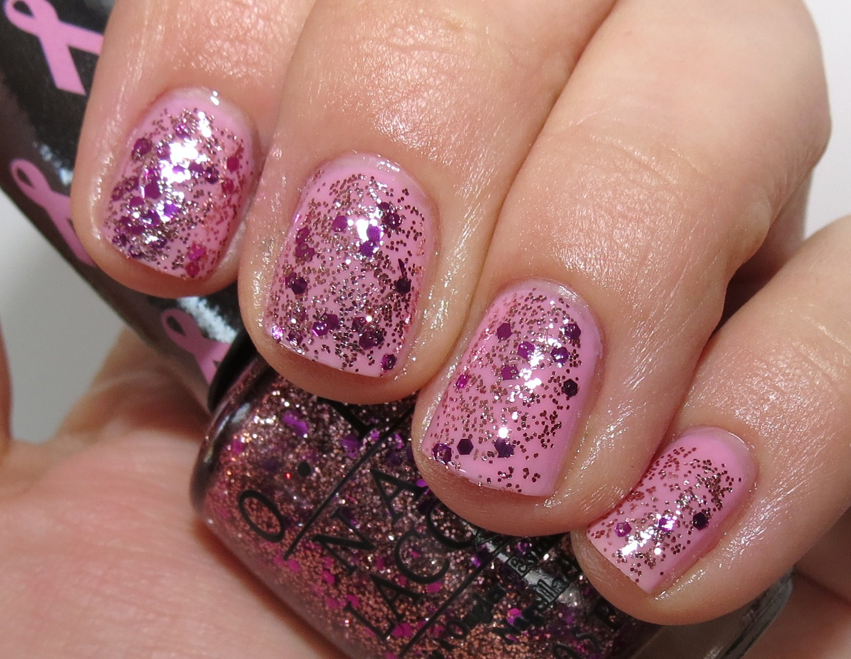 Opi I Think In Pink You Glitter Be Good To Me Nail