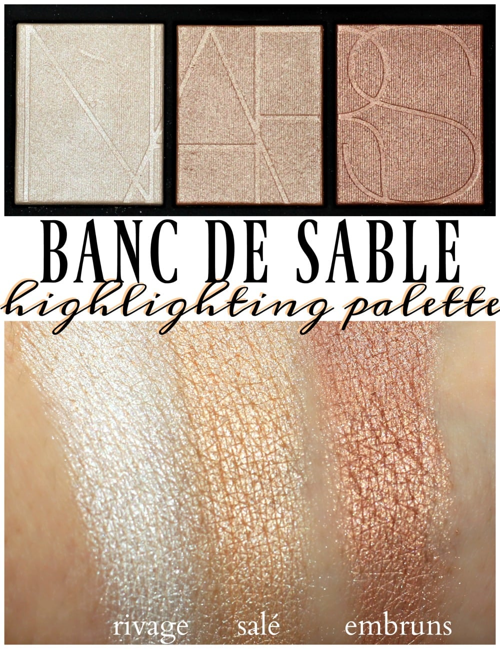 Banc Palette Nars Banc De Sable Highlighter Palette Swatches Review