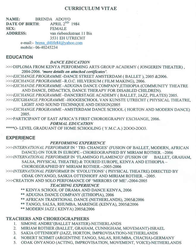 please find attached my cv radiovkm