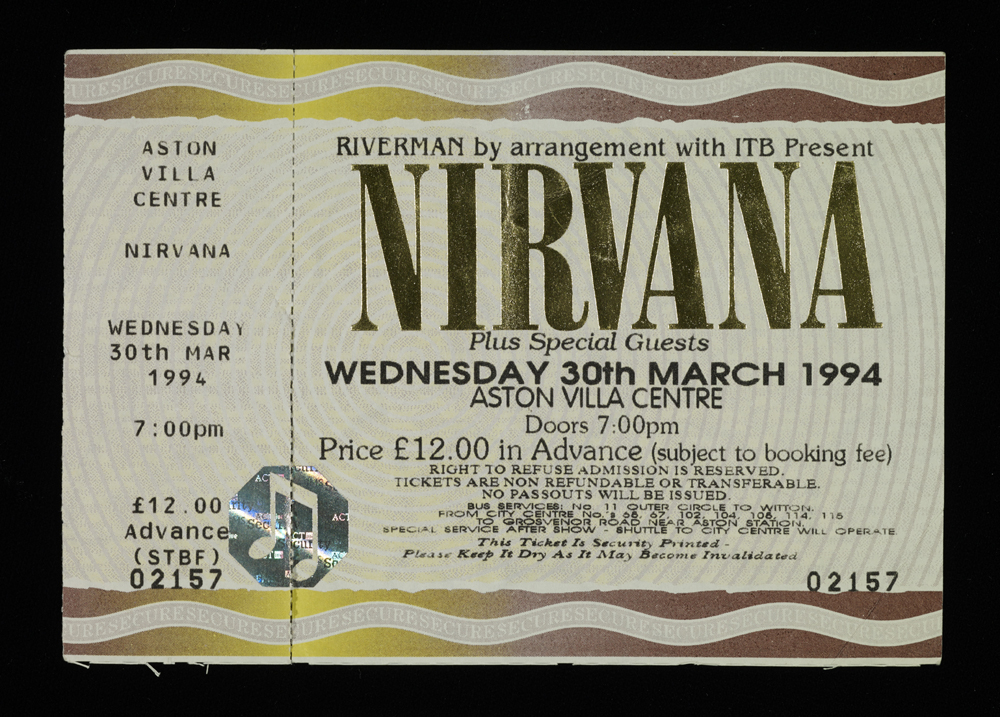 Nirvana Concert Ticket blog post Rule This Pinterest - concert ticket template free