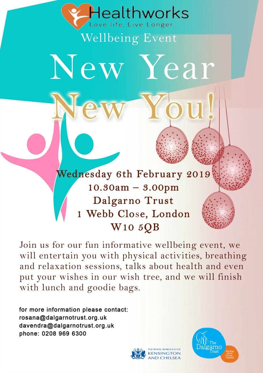 Wednesday 6 February 2019 New Year New You Wellbeing Event Wednesday 6 February People