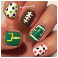 Ready for Super Bowl: 26 Amazing Football Nail Art Designs ...