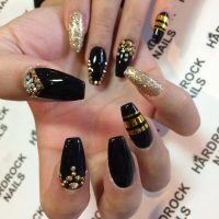 Black White And Gold Nail Designs | www.imgkid.com - The ...