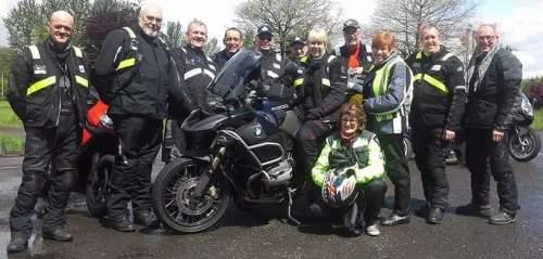 John Ottaways ride to Brecon grp at Owls Nest tea room 20160522
