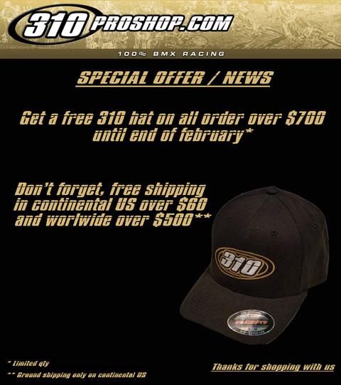 310proshop.com hat offer