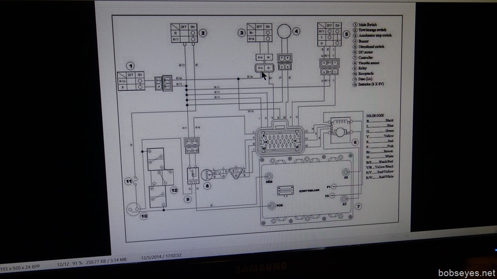 Studying Yamaha G19E Electrics While Waiting Out the Storm Bob\u0027s Eyes