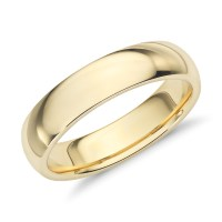 Comfort Fit Wedding Ring in 18k Yellow Gold (5mm) | Blue Nile