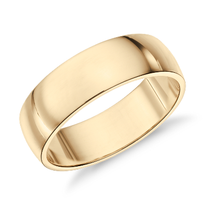 classic ring 14k white gold gold wedding rings Classic Wedding Ring in 14k White Gold 6mm