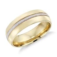 Colin Cowie Men's Milgrain Inlay Wedding Ring in 18k ...