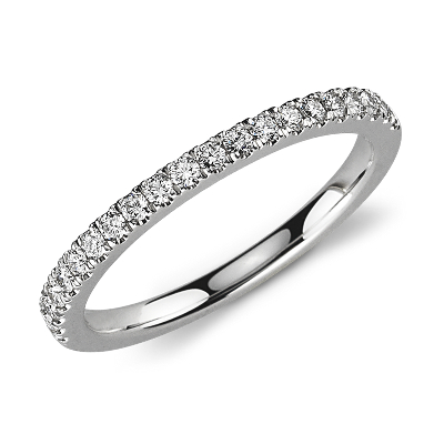 womens wedding rings rings wedding Petite Pav Diamond Ring in Platinum 1 3 ct tw