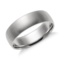 Matte Mid-weight Comfort Fit Wedding Band in Platinum (6mm ...