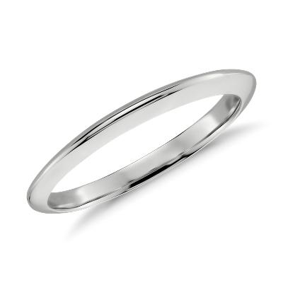 knife edge wedding band 14k white gold white wedding band Knife Edge Wedding Band in 14k White Gold