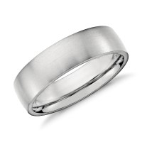 Matte Low Dome Comfort Fit Wedding Ring in Platinum (6mm ...