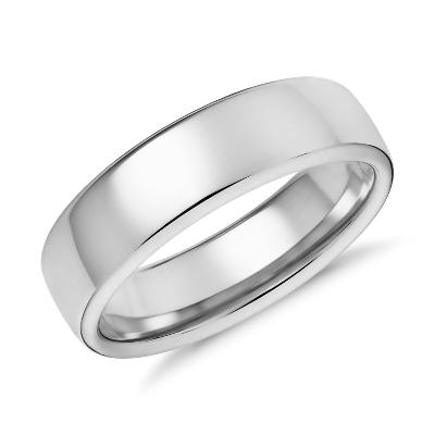 modern comfort fit wedding ring yellow gold gold wedding bands Modern Comfort Fit Wedding Ring in 14k Yellow Gold 6 5mm