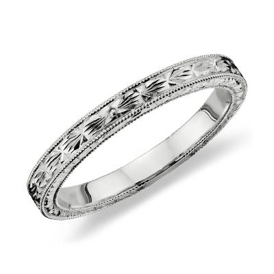 Rosiness Platinum Wedding Ring