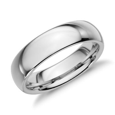 tungsten carbide wedding ring tungsten carbide wedding band Comfort Fit Wedding Ring in White Tungsten Carbide 6mm