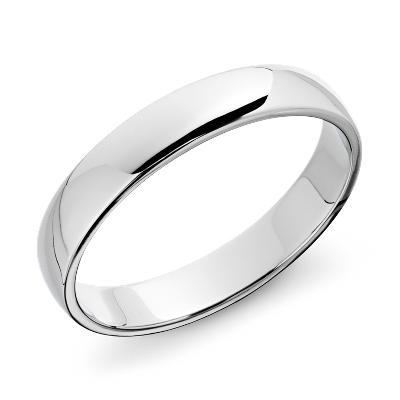 wedding ring 14k white gold white wedding band Classic Wedding Ring in 14k White Gold 5mm