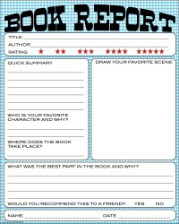 bnute productions: Free Printable Kids Book Report Worksheet
