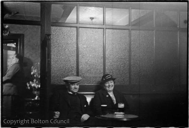 'Weekend Drinkers', from the wonderful Bolton Council Mass Observation photo archive. (No, that isn't us in the Dock Inn...)