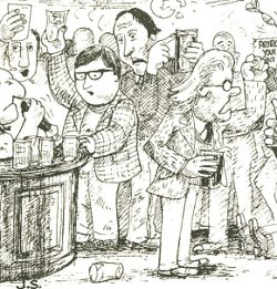 John Simpson's depiction of middle class student CAMRA members, 1975.