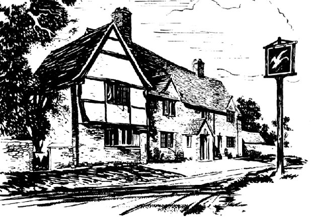 Illustration of a pub c.1955.