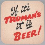 Reverse of Ben Truman beermat c.1956.