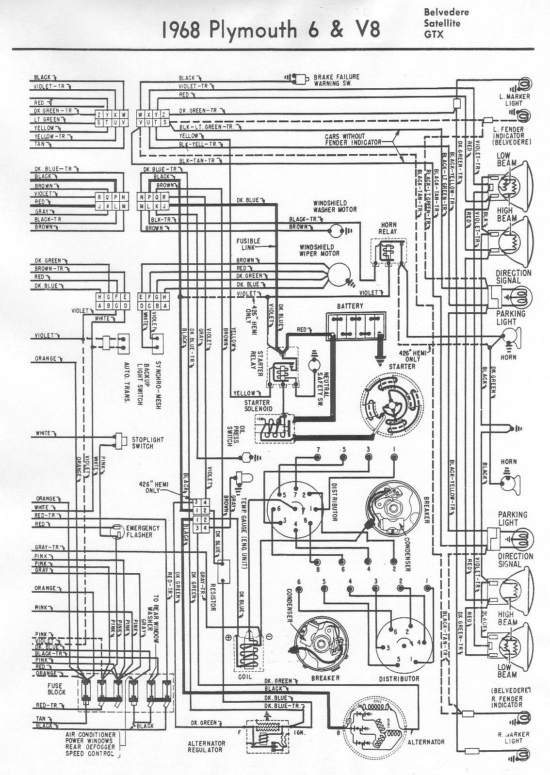 1969 plymouth wiring schematic