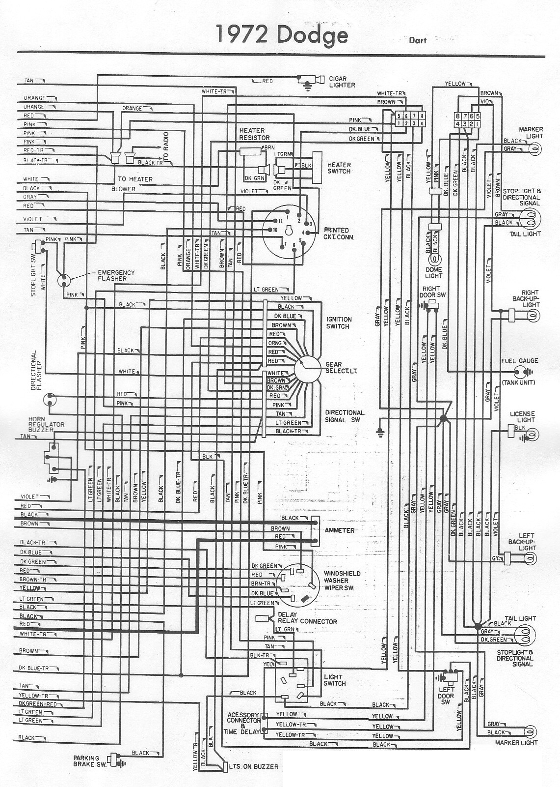 72 dodge dart wiring diagram