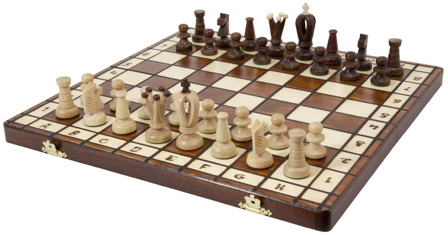 Rundes Brett Royal 36 European Wood International Chess Set - Board