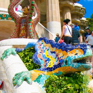 Gaudi's Lizard in Parc Güell, Barcelona - Koen Blanquart