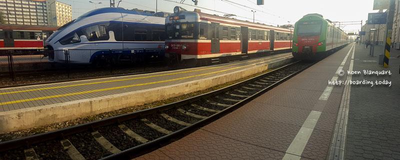 Trains in the Bialystok railway Station, Poland