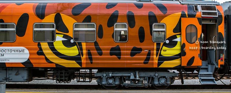 Train with Tiger Print – Yekaterinburg to Irkutsk