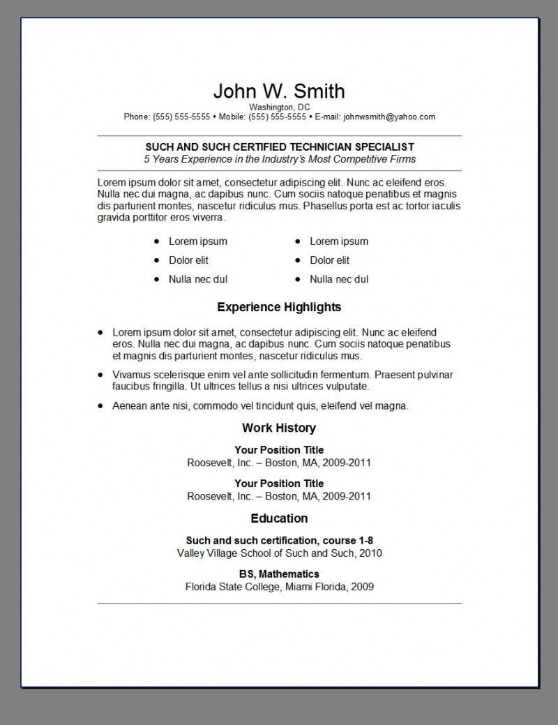 resume cover sheet example google docs