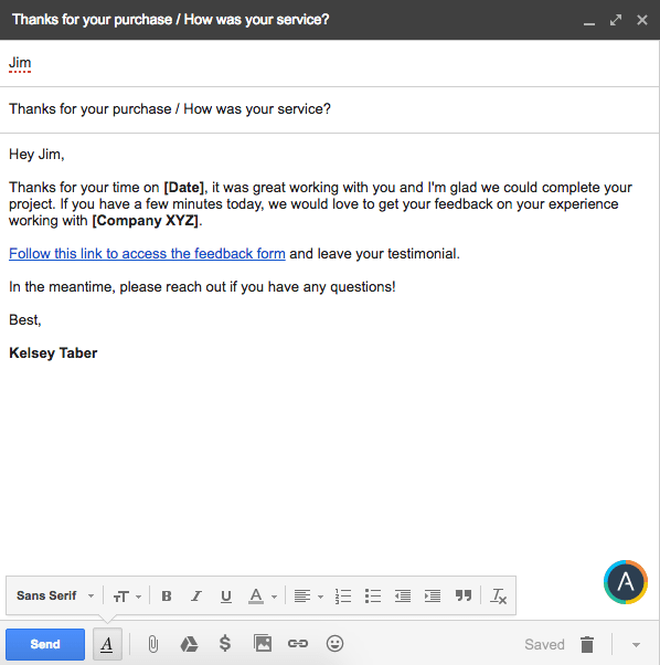 sample email asking for feedback after interview the proper way to ask for customer feedback