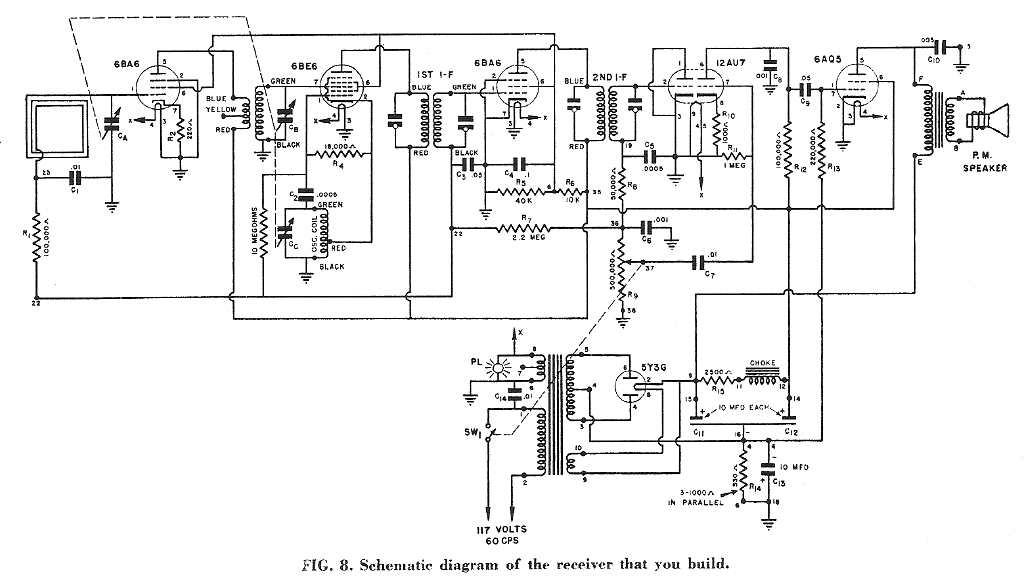 nri am broadcast radio schematic