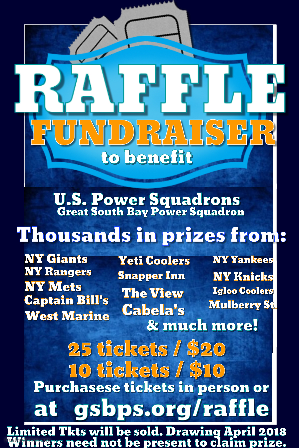 2018 Fundraiser Raffle - Great South Bay Power Squadron