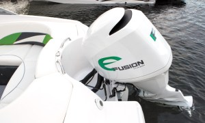 Co-developed with Florida's ReGen Nautic, the electric-powered E Fusion puts out a stout 180 hp, with an eight-hour recharging time.