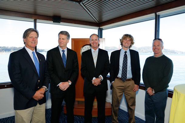 Who will be next Rolex Yachtsman of the Year, joiningthese previous winners (left to right) Magnus Liljedahl, Stan Honey, Bill Hardesty, Johnny Heineken and Terry Hutchinson?