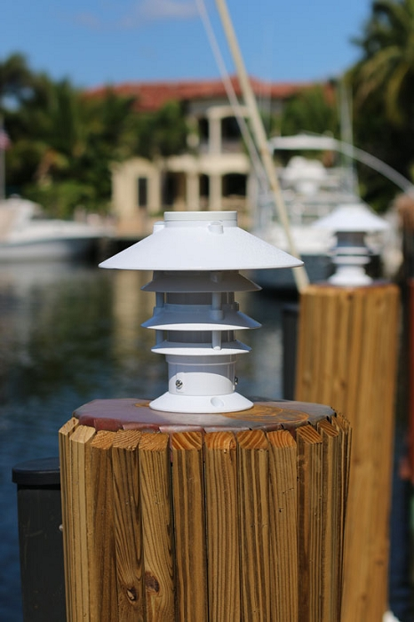 Spot Led Lake Lite Solar Pagoda Piling Light