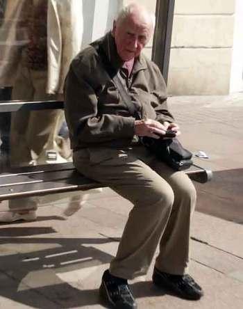 street crime in St. Petersburg, Russia. Pickpocket victim