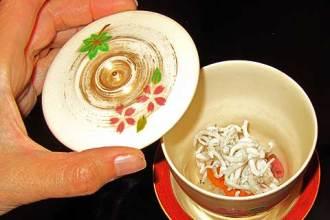 Kaiseki: Steamed icefish on raw sea urchin