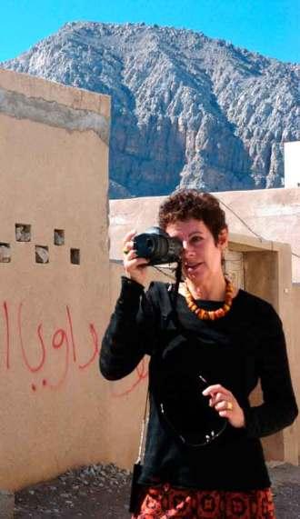 Bambi Vincent in Khasab, Oman