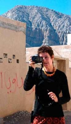 Bambi Vincent in Khasab, Oman. Pickpockets prefer women.