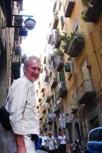 Bob Arno in Quartieri Spagnoli, Naples, Italy.