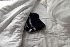 Clothes left in hotel bed?