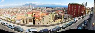 Naples panorama—view from our room at the San Francesco al Monte Hotel.